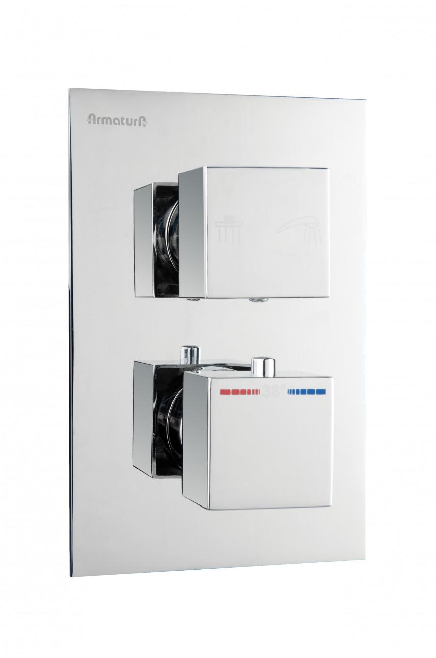 Смеситель скрытого монтажа с термостатом