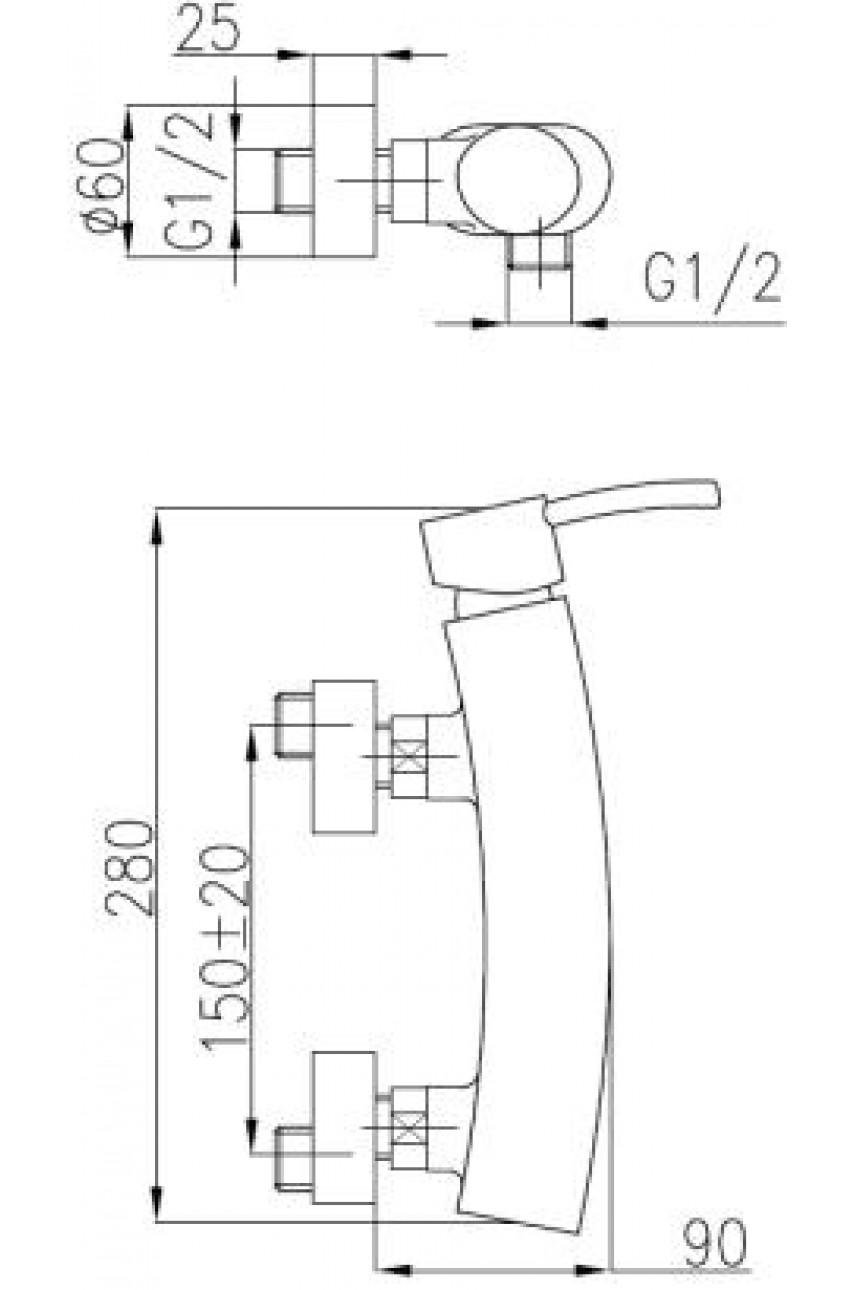 Diament смеситель для душевой кабины