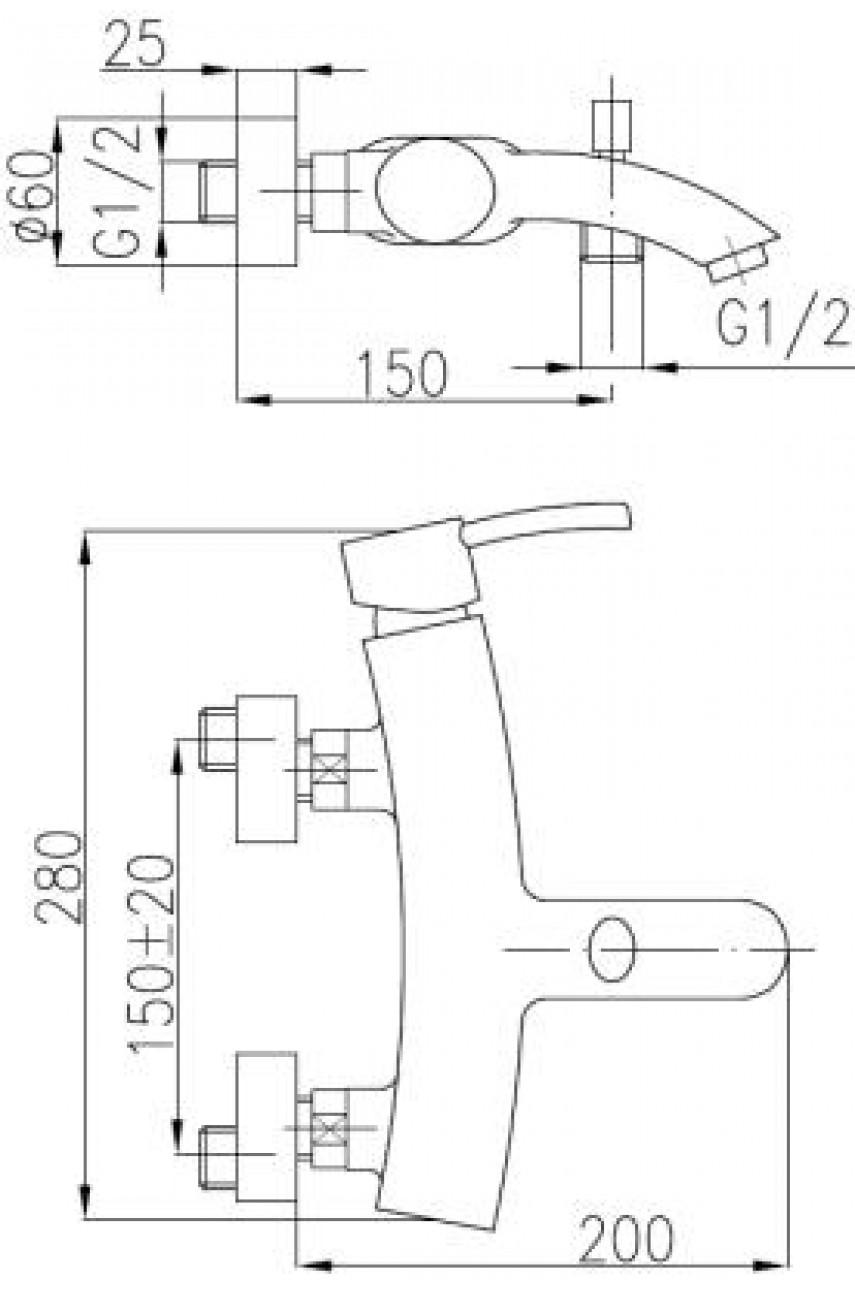 Diament смеситель для ванной
