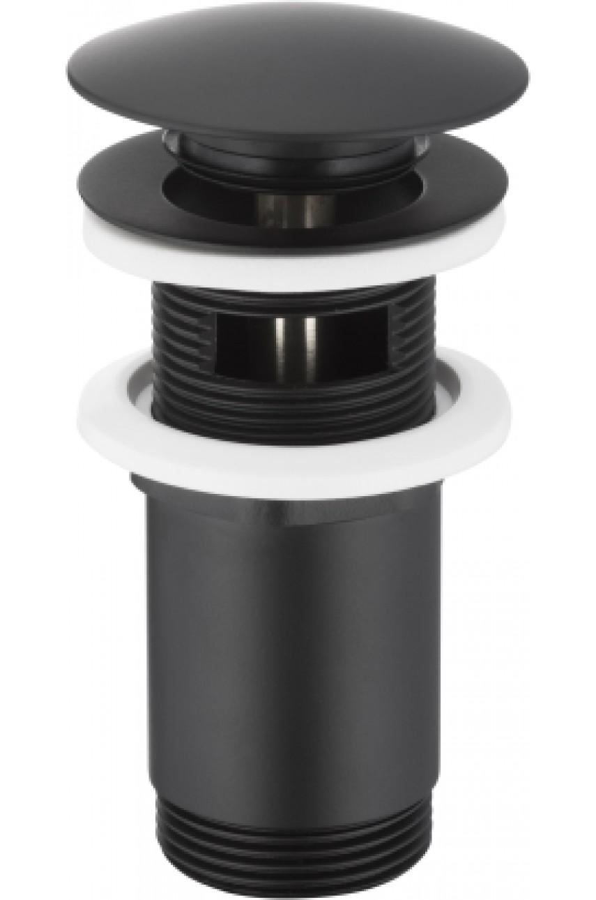 klick-klack черный донный клапан круглый