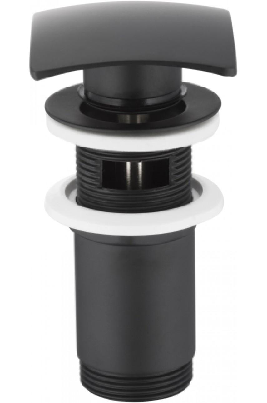 klick-klack  черный донный клапан квадратный