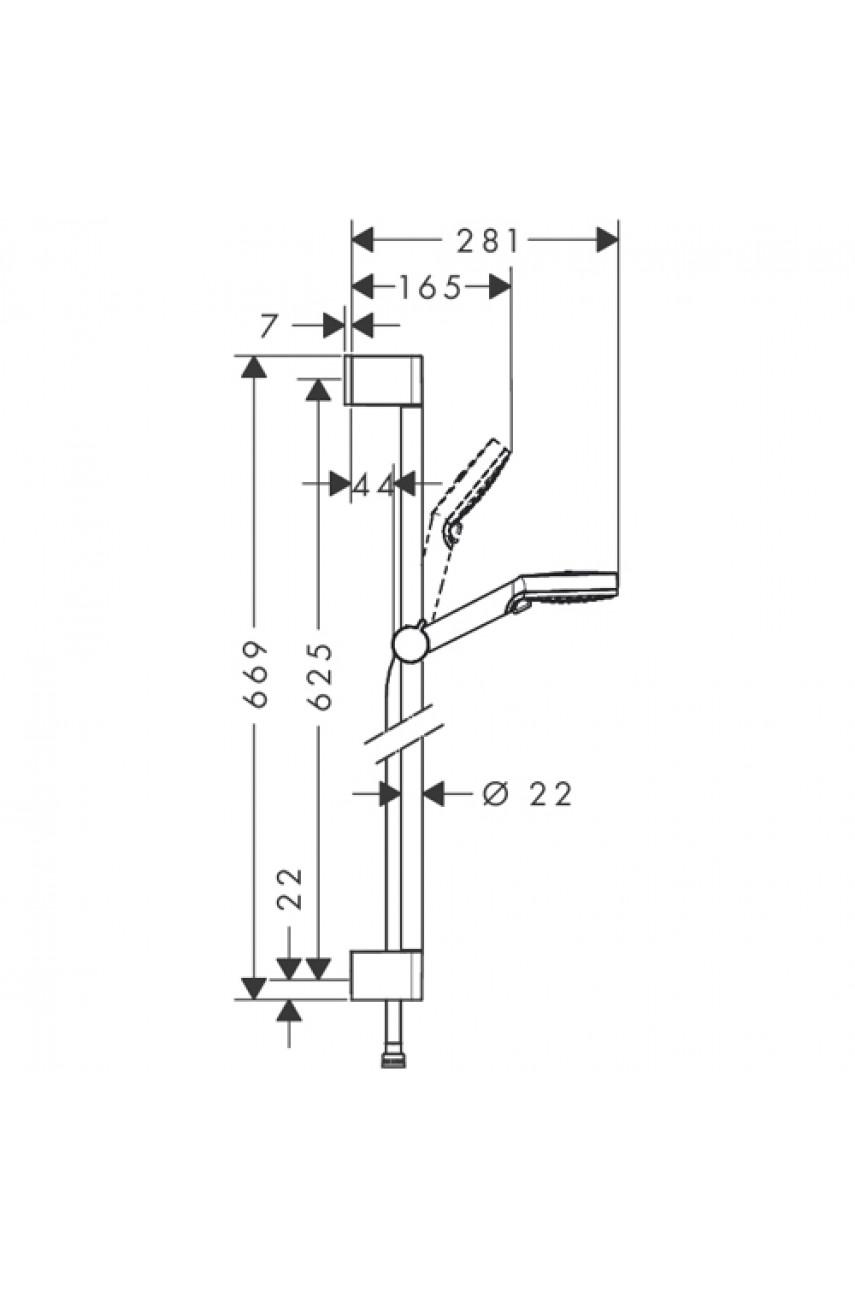 Стойка для душа Hansgrohe Crometta Vario 65см