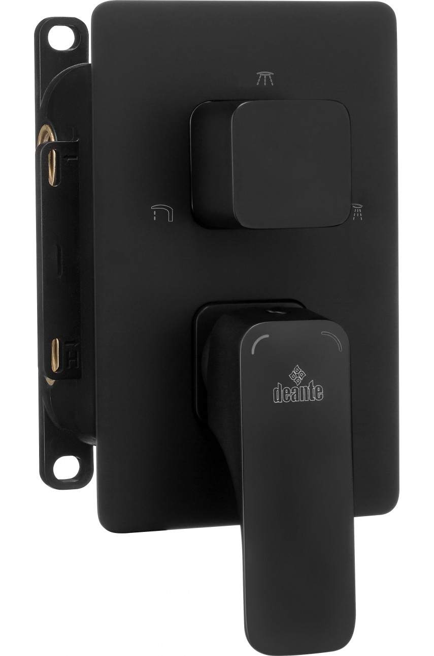 Hiacynt Black (накладка) для Box Deante скрытого монтажа