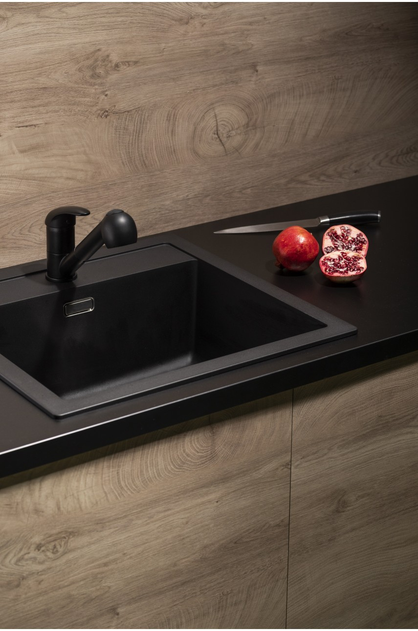 Смеситель для кухни Indira Black KFA черного цвета