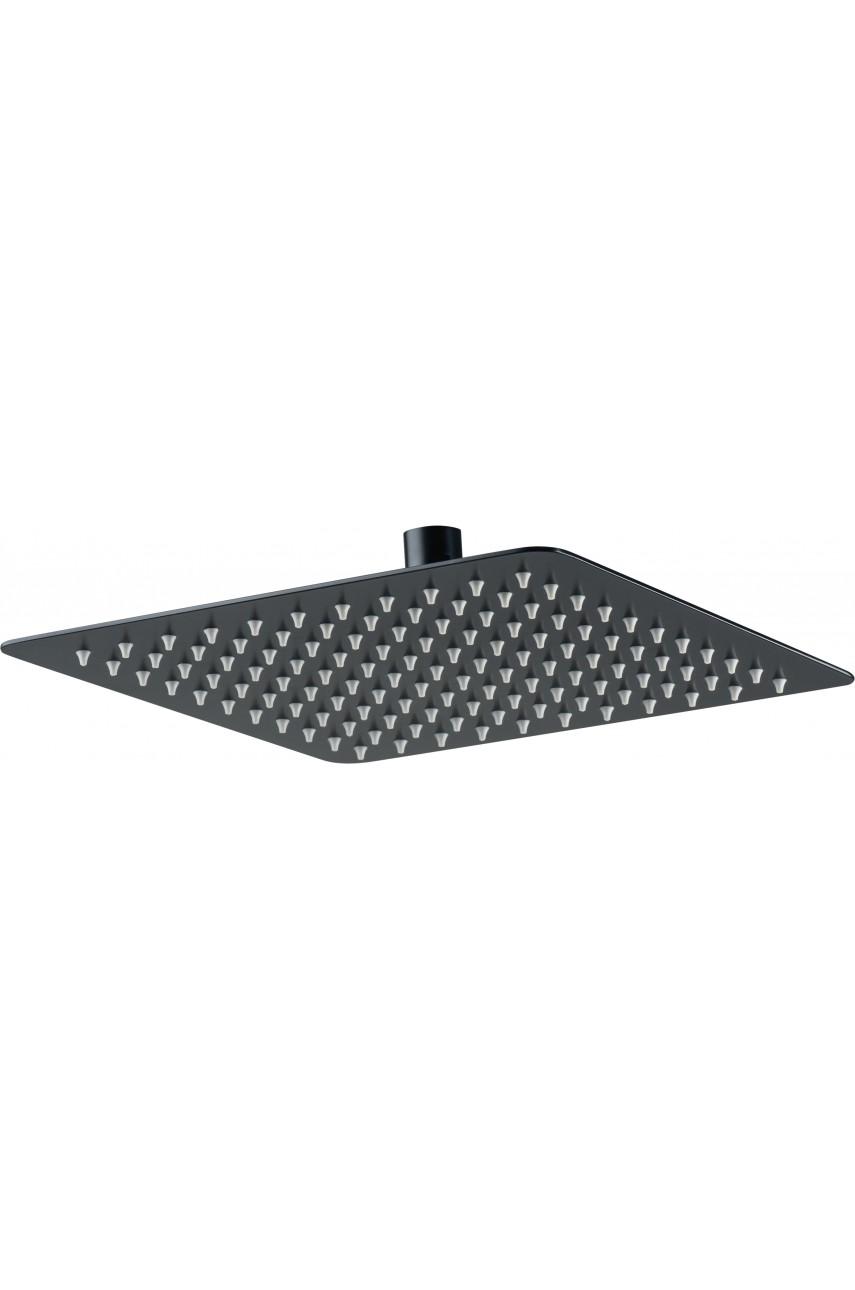 Лейка для cмесителя скрытого монтажа # 300 квадратная метал Deante Black