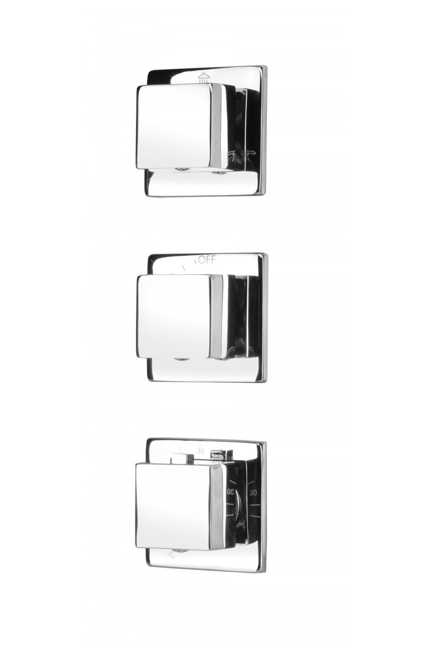 Cascada multi sistem c термостатом cмеситель для ванны скрытого монтажа