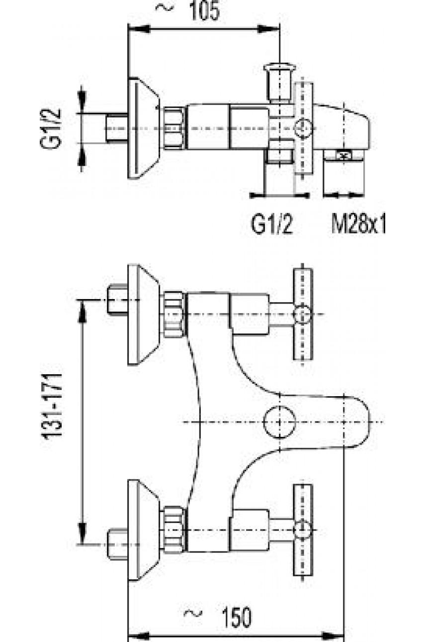 Symetric смеситель для ванны