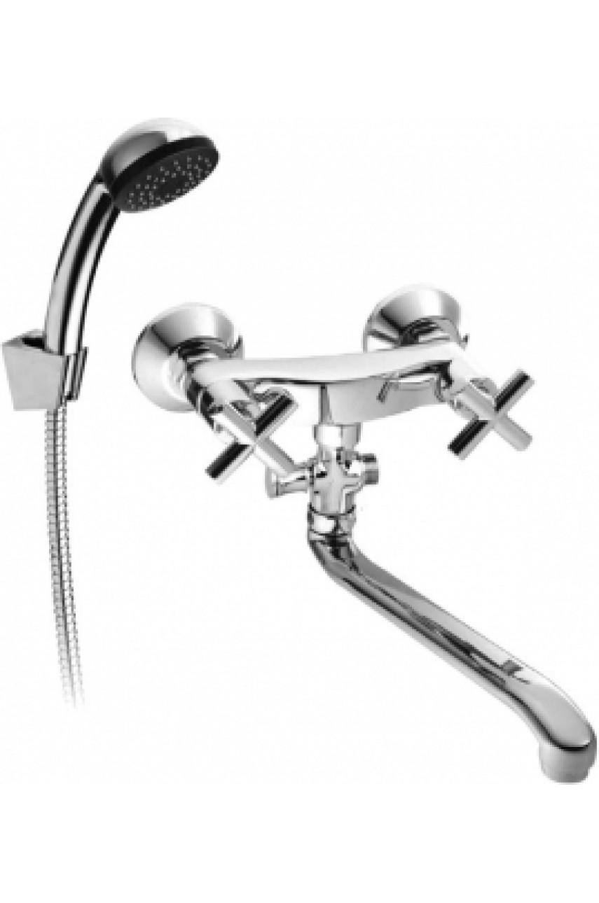 Symetric  смеситель для ванной  с длинным изливом