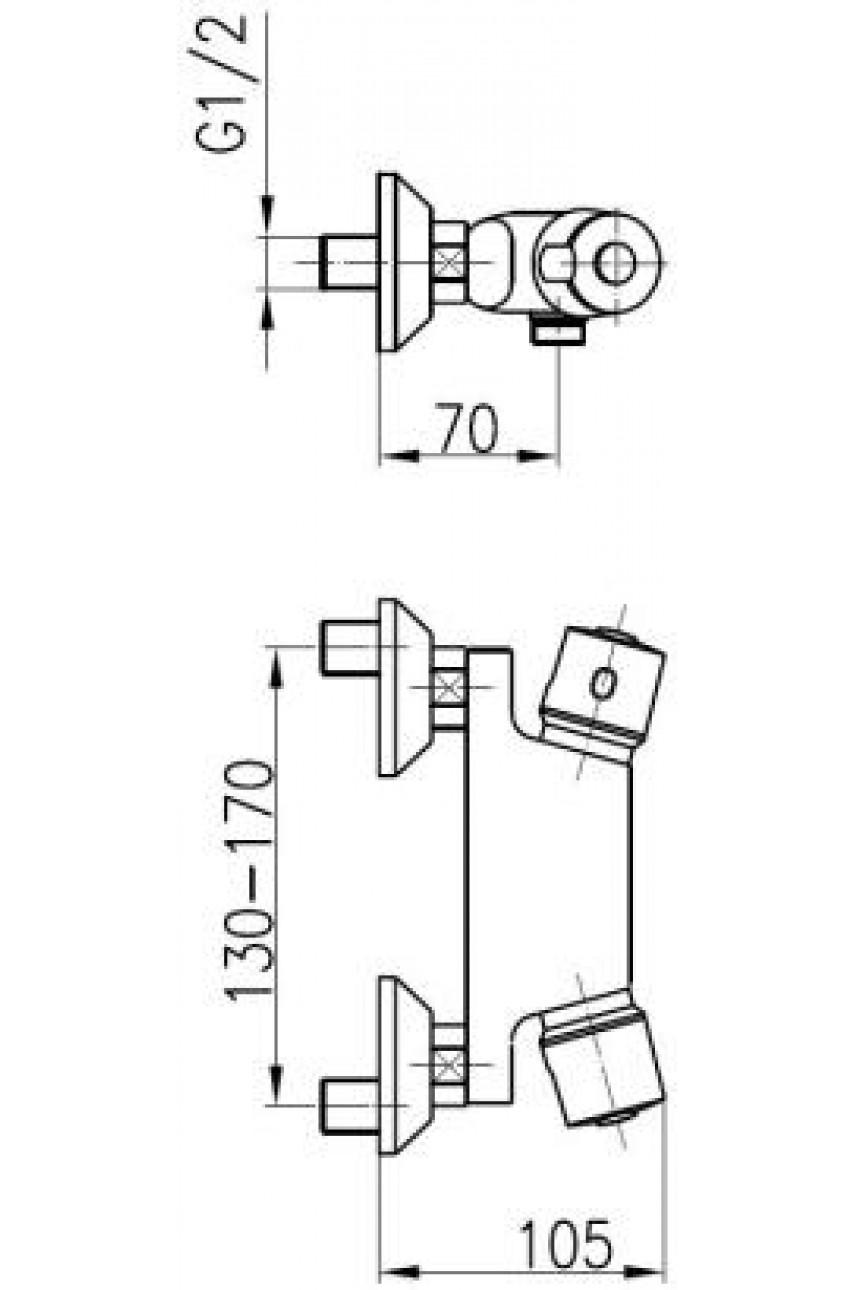 Псевдобиде с термостатом Standart KFA